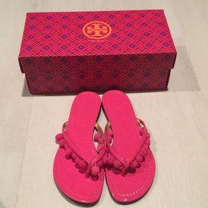 Tory Burch Pom Pom sandals size 7